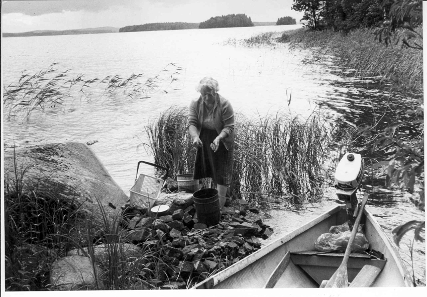 WBertta Räsänen kalassa
